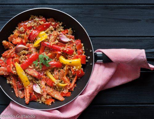 Peperoni gratinati in padella