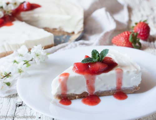 Cheesecake cremosa alle fragole