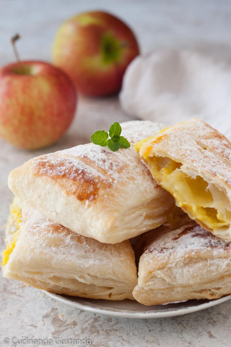 Sfogliatine di mele e crema pasticcera