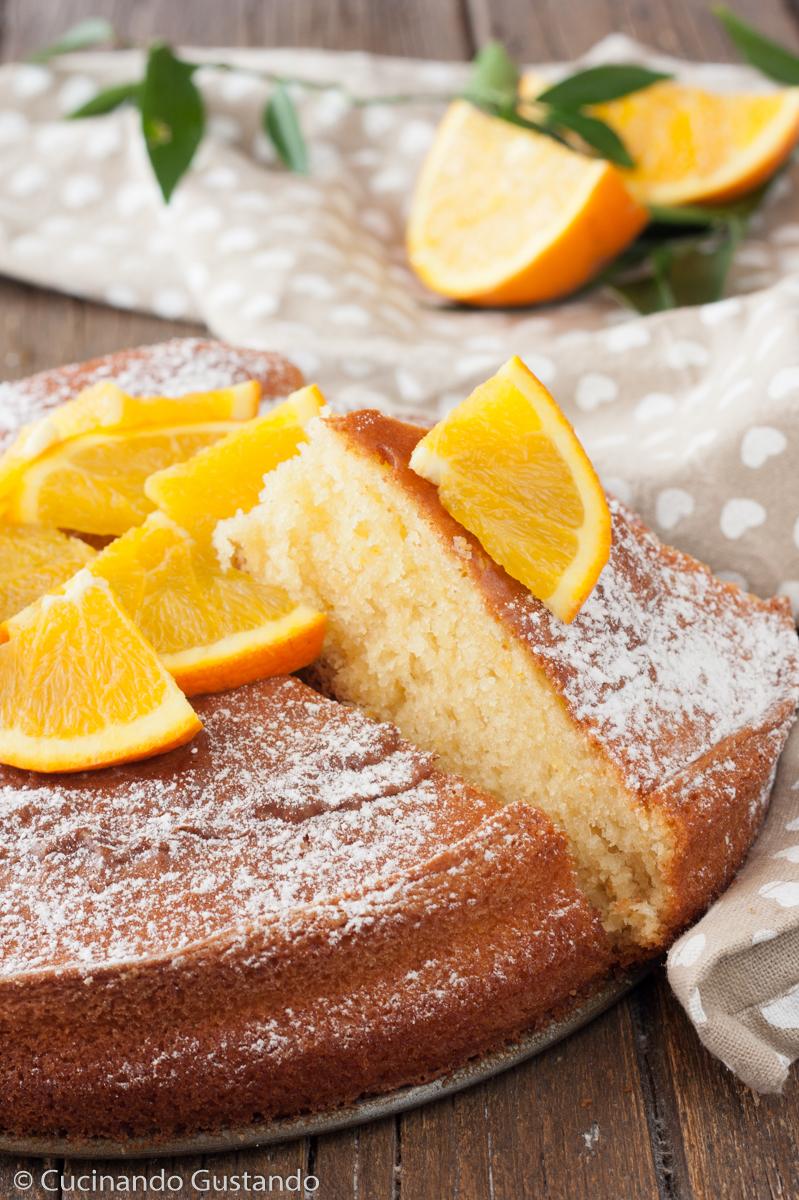 Torta di yogurt e arancia