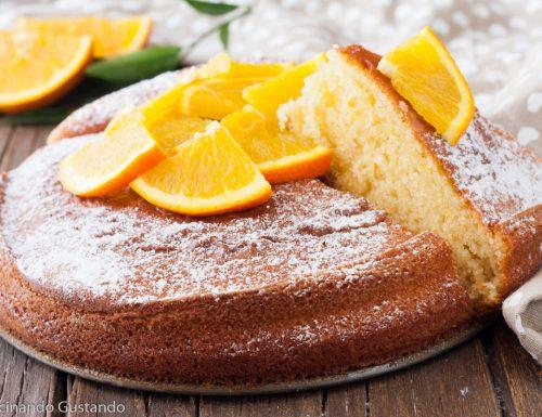 Torta di yogurt e arancia soffice