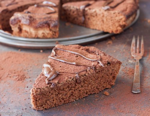 Torta nuvola al cioccolato fondente sofficissima