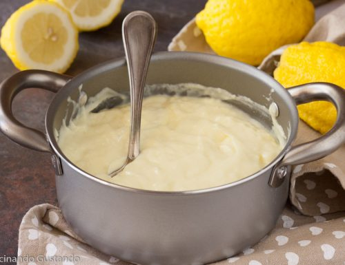 Crema pasticcera al limone procedura veloce