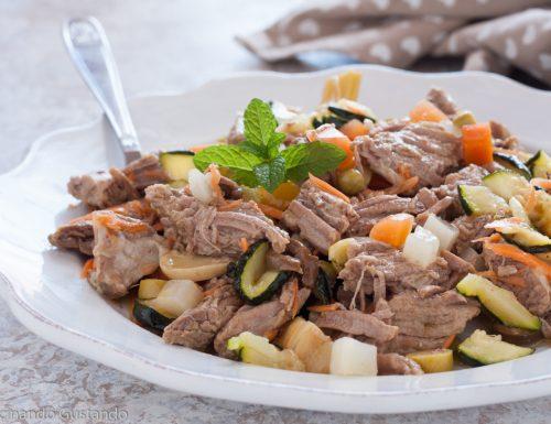 Insalata di carne morbidissima piatto freddo estivo