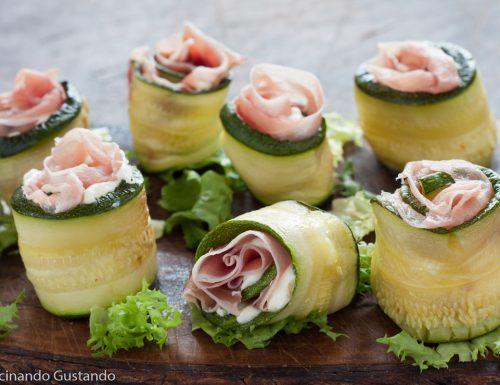Rotolini di zucchine speck e formaggio