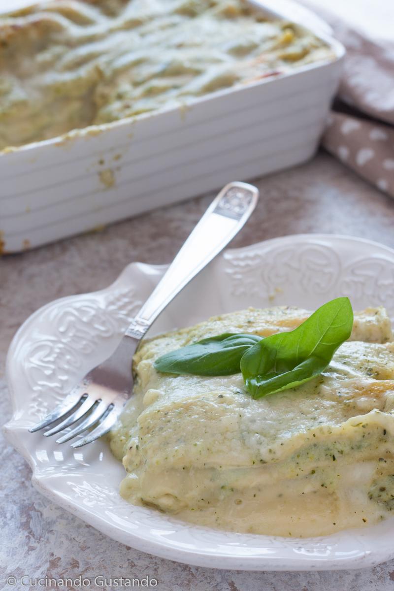 Lasagne con pesto e crema di zucchine