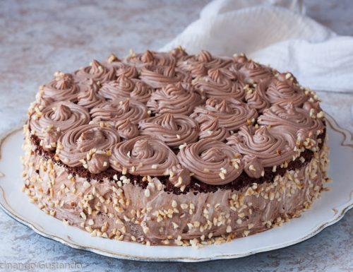 Torta al cioccolato nutella e mascarpone
