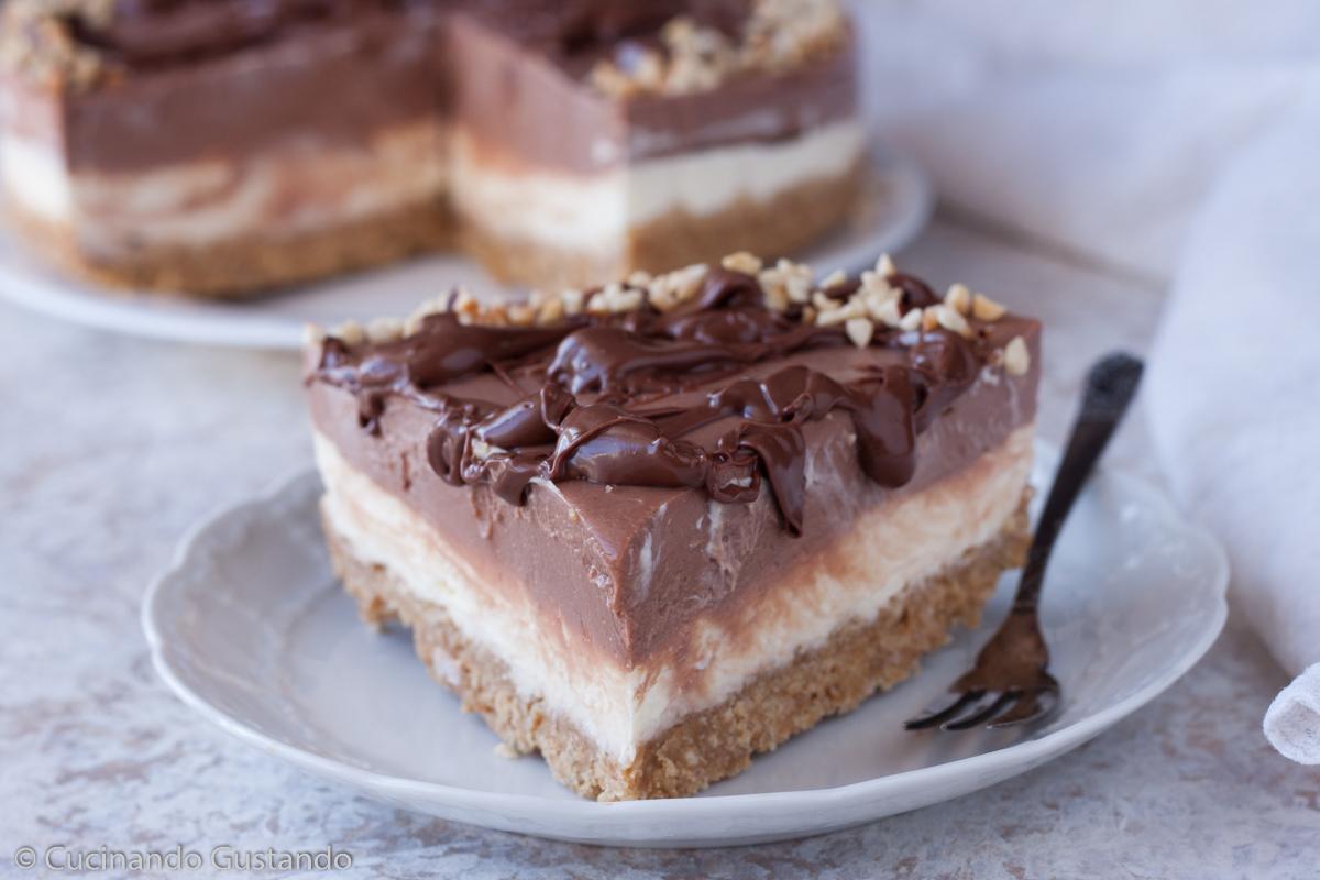 Cheesecake mascarpone e nutella cremosissima e senza colla di pesce