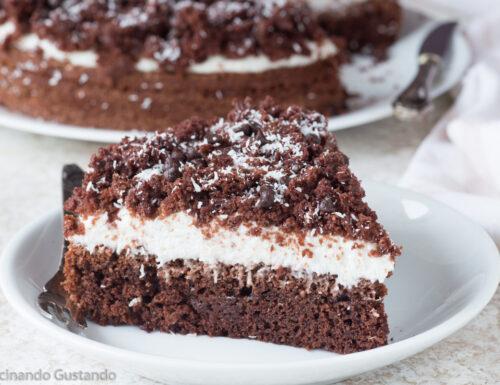 Torta cioccolato cocco e yogurt greco