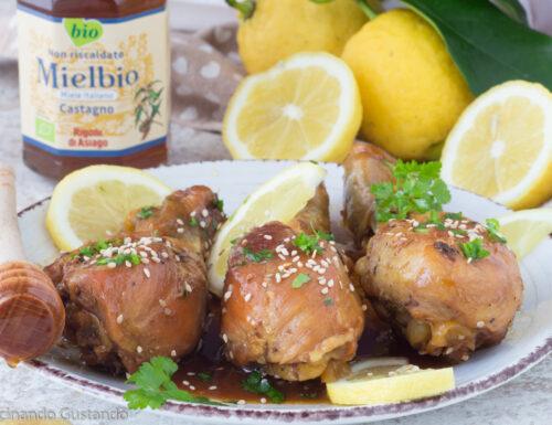 Cosce di pollo al miele
