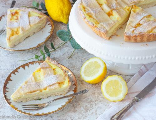 Crostata alla crema pasticcera di limone