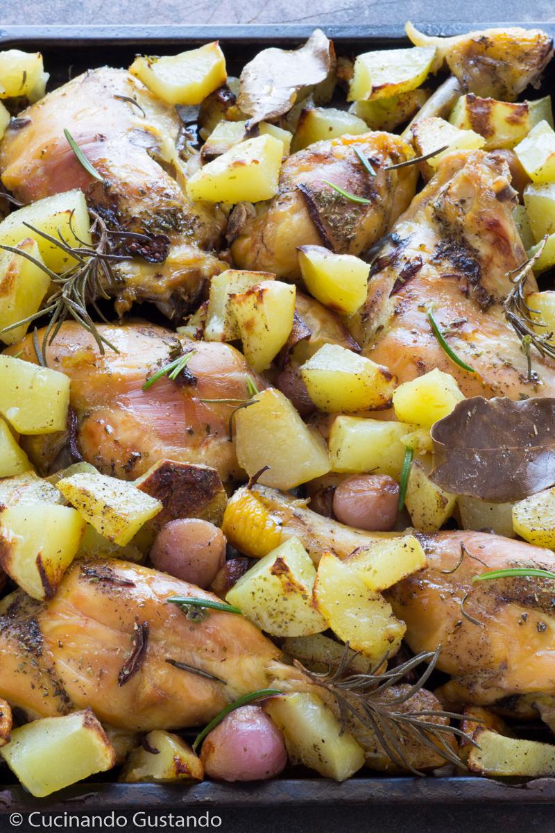 Pollo e patate al forno