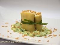 Paccheri ripieni di zucchine ricotta e bottarga