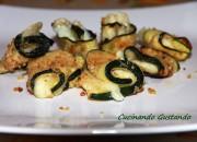 Involtini di zucchine e formaggio al forno