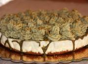 Cheesecake pistacchio e cioccolato bianco senza zucchero
