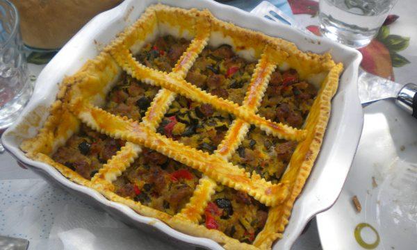 Torta brisé di zucchine e salsiccia