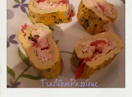 •Rollè di Frittata Con Tonno, Philadelphia e Pomodori•