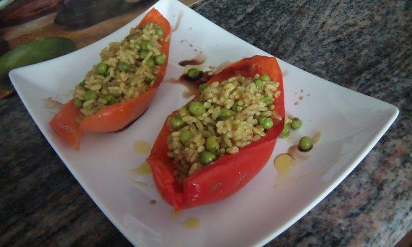 Barchette di peperone con riso Pilaf