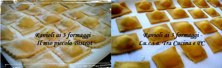 ravioli ai 3 formaggi - Collage