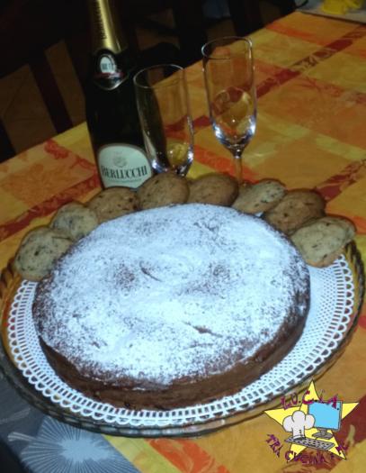 Torta cookie cioccolato e noci - Ricetta Golosa