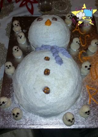 Pupazzo di neve - torta a tema