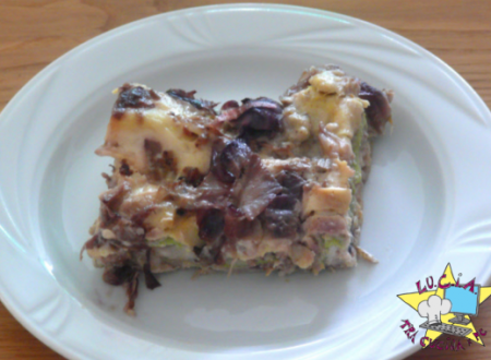 Lasagne radicchio salsiccia e carciofi