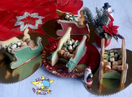 Slitta di Babbo Natale biscotto – tutorial