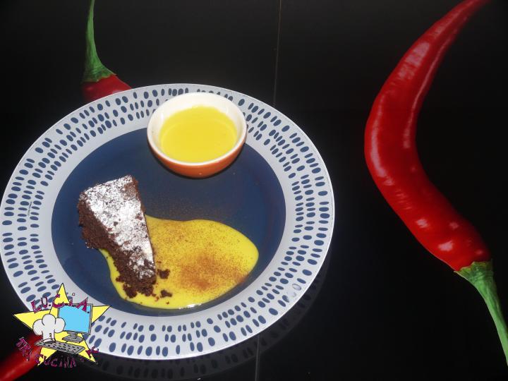 Torta caprese con crema afrodisiaca