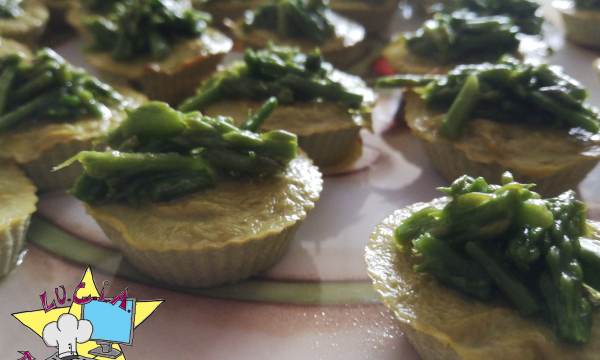 tortini di asparagi mini – finger food