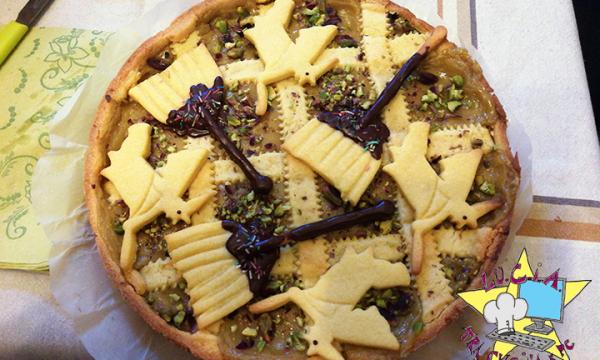 Crostata con crema pasticcera al pistacchio