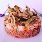 Un piatto per l'estate: quinoa, tonno e puntarelle