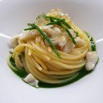 Spaghetto al pesce San Pietro, salsa di cavolo nero e colatura di alici di Cetara