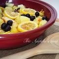 Tajine di pollo al limone e olive nere con patate