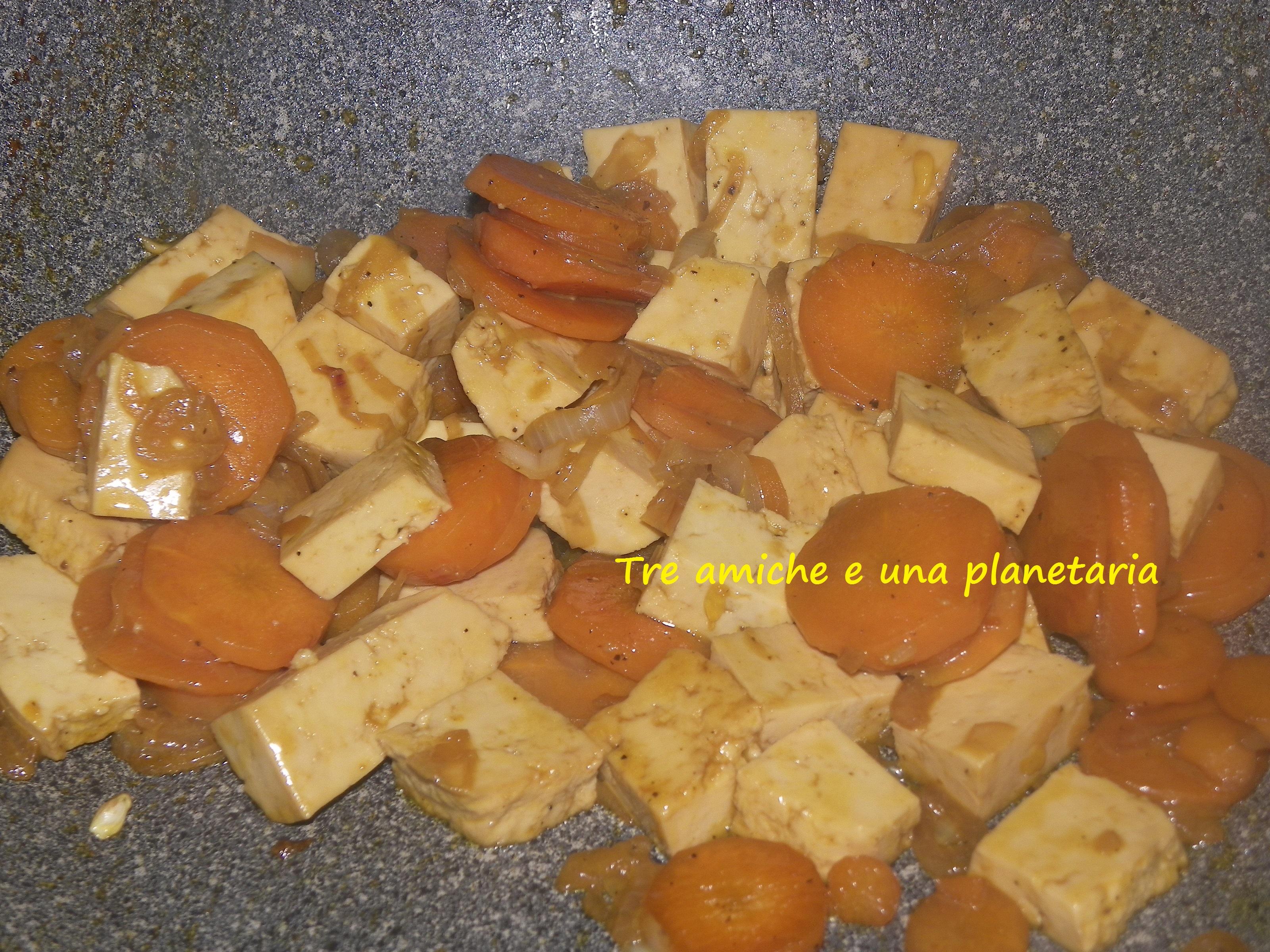 tofu verdure arancia