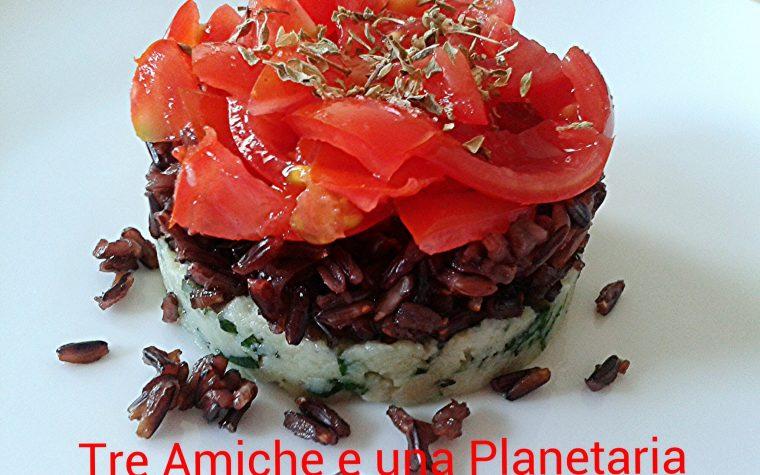 Riso Thai black con crema di persico alle erbe