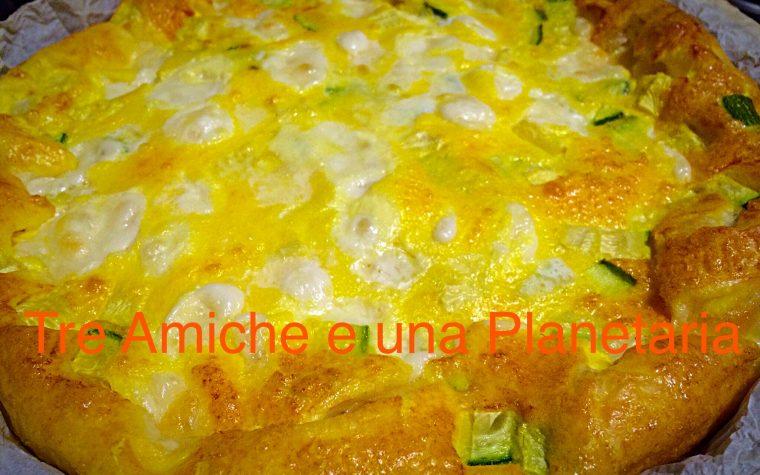 Frittata al forno con zucchine e mozzarella