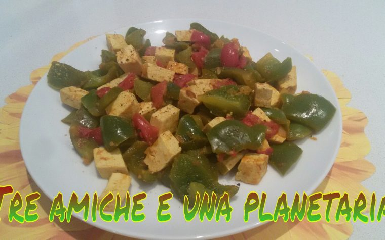 Tofu al curry con verdure
