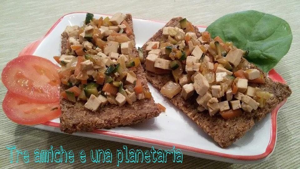 crostini segale tofu verdure