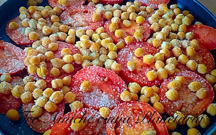 Ceci e pomodori al forno