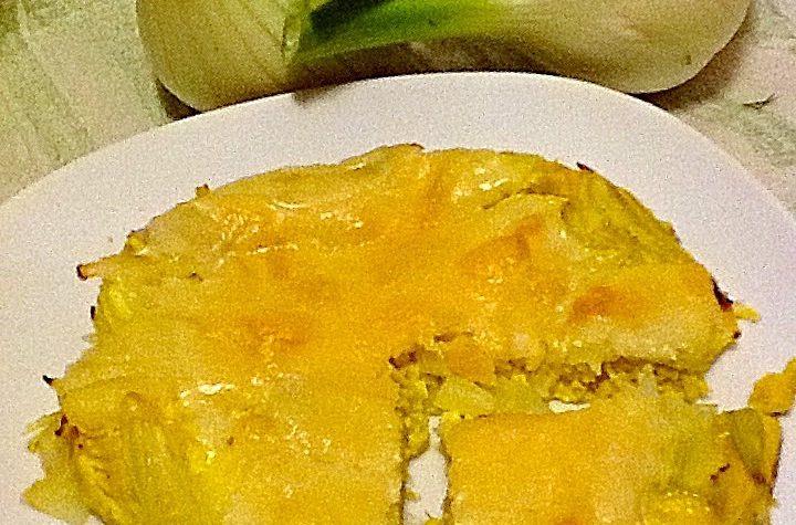 Frittata di finocchio e formaggio