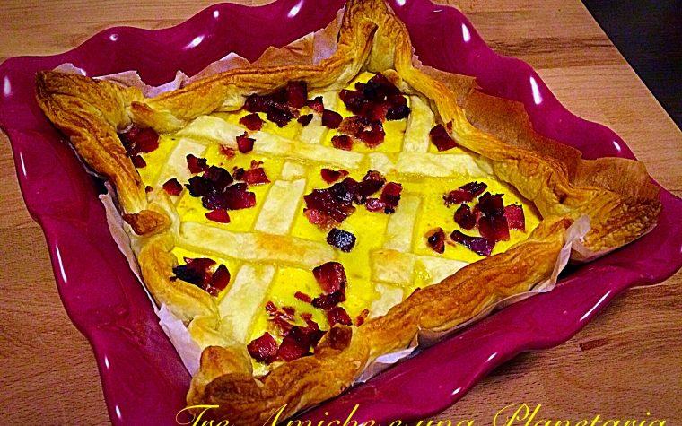 Torta salata con ricotta e pomodori secchi