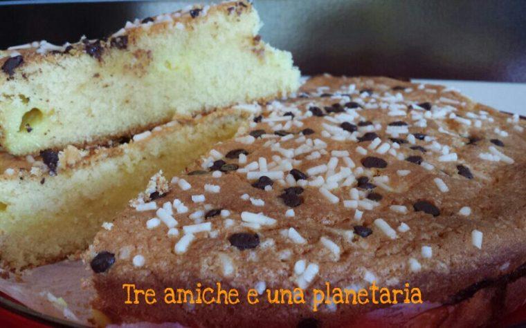 Torta ripiena di crema pasticcera