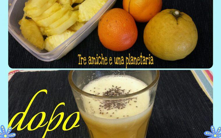 Centrifuga di ananas, bergamotto e arancia