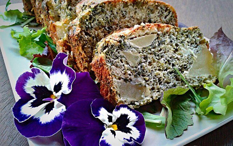 Plumcake salato di spinaci e patate