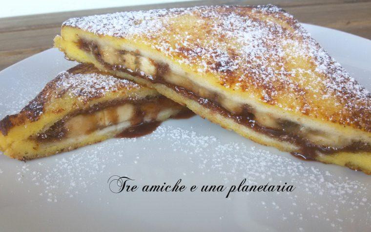 French toast alla Nutella e banana – ricetta passo passo