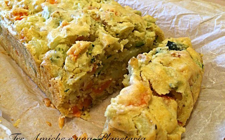 Plumcake salato di verdure senza uova e latticini
