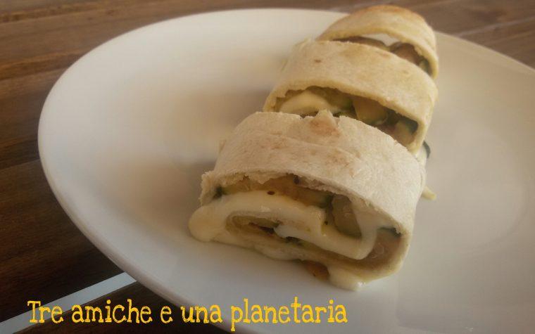 Rotolini di tortillas con zucchine grigliate