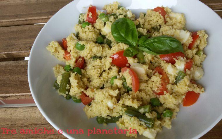 Cous cous al pesto e verdure