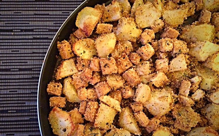 Tofu e patate gratinate al forno