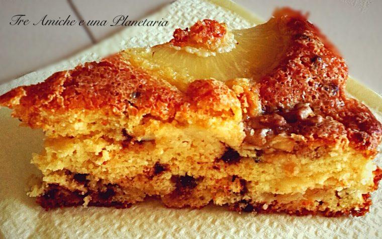 Torta ananas e noci